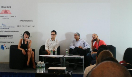 At the Singapore Writers Festival, participating in the panel discussion 'From Page to Screen'...