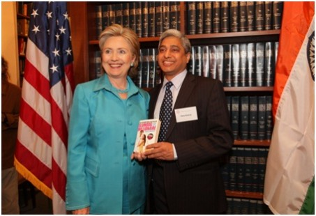 Hillary Clinton and Vikas Swarup