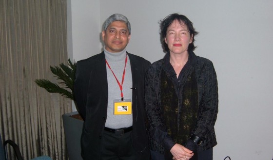 With Alice Sebold in Auckland, May 22, 2005
