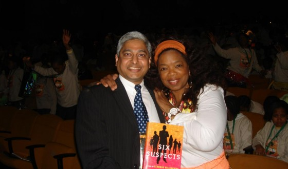 With Oprah Winfrey at the Oprah Winfrey Leadership Academy for Girls - South Africa on June 18, 2009