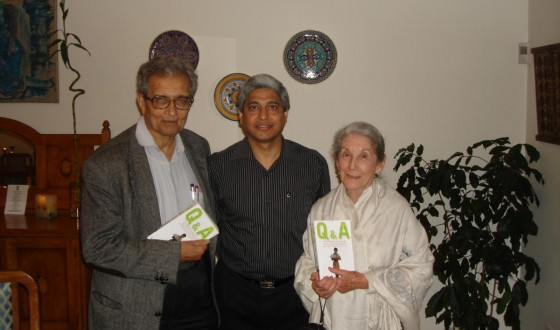 With two of the world's greatest thinkers, Nobel Laureates Amartya Sen and Nadine Gordimer in Pretoria on April 21, 2007